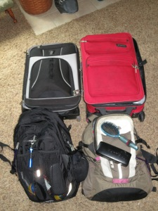 Four Months of Travels in two suitcases each