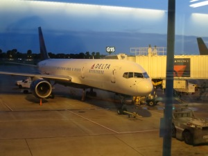 Our plane from MSP to LAX