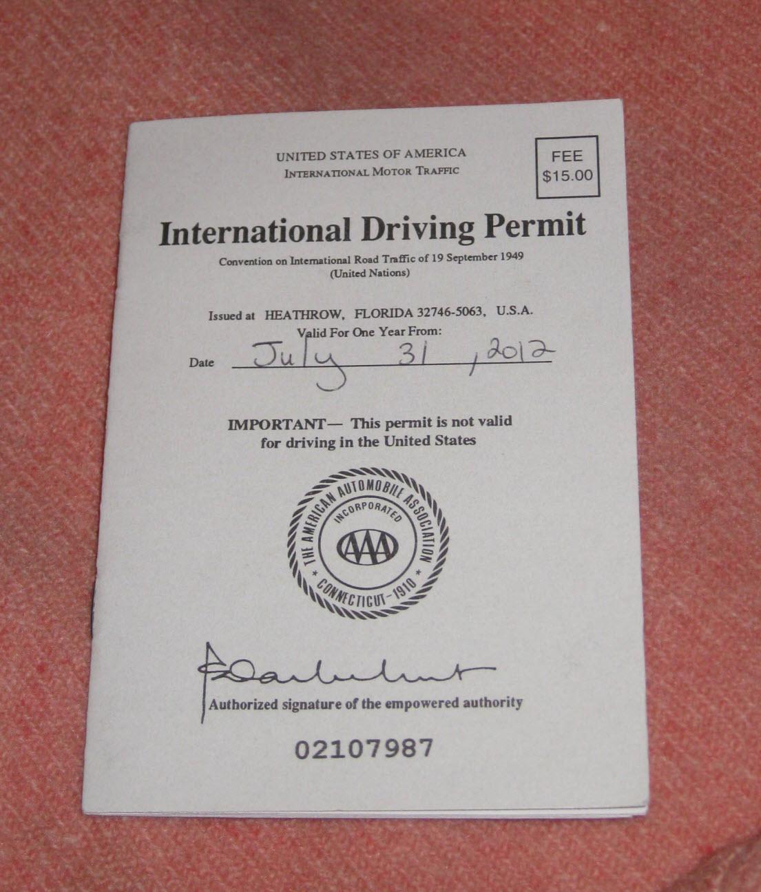 international drivers permit aaa