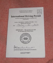 International Driver's Permit 2012