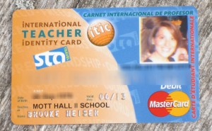 Teacher Discount Card for World Travel!