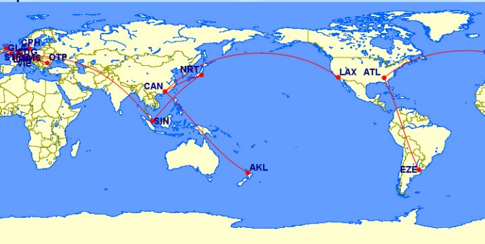Flight of our RTW Trip