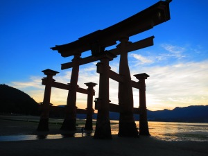 Miyajima gate at sunset