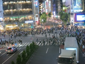 So many people crossing the street!