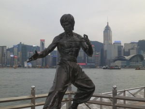 Statue of Hong Kong's favorite son: Bruce Lee