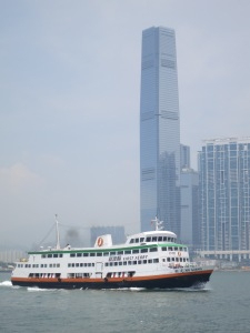 Ferry with Hong Kong's Tallest Building in the background