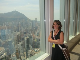 View from the 55th Floor of the IFC Tower!