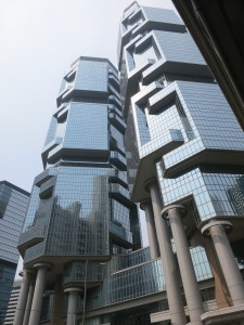 One of our favorite buildings- The twin Lippo Centre which are said to look like