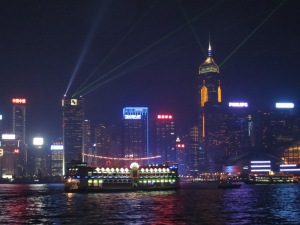 Nightly Laser Show in HK