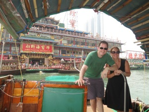Riding on the Sampan