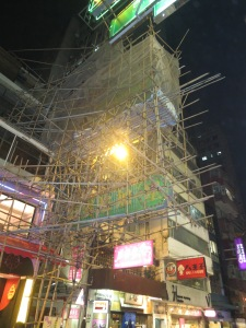 Bamboo Scaffolding could be found on buildings everywhere!