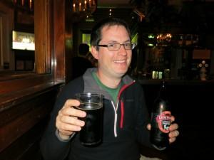 Enjoying a good beer
