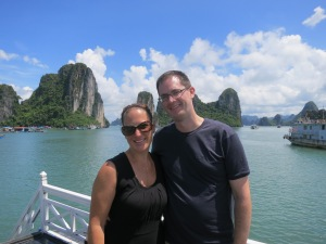 Brooke and Phil at Ha Long Bay!