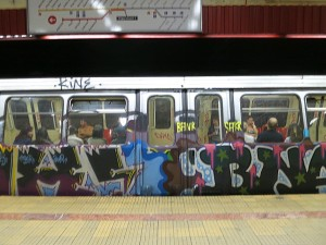 Bucharest Metro Grafitti