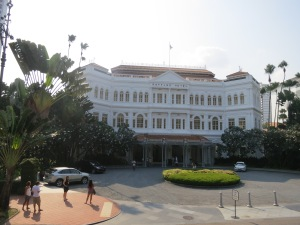 A Singapore Landmark - Raffles hotel goes way back to the 1800's