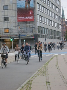 People on bikes