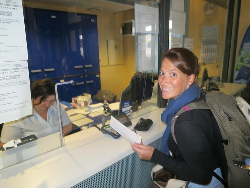 Brooke rocking it at the Croatia Post Office