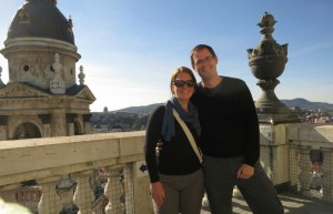 Brooke and Phil On top of Budapest!