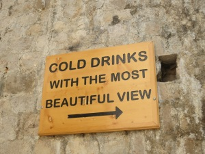 Sign found in the Old City leading us to the perfect bar